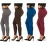 Coco Limon Women's 6 Pack Solid Color Long Fleece Leggings