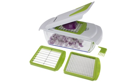 Freshware 4-in-1 Onion, Vegetable, Fruit and Cheese Chopper with Lid c1557070-99cc-4281-bafb-3c8fe001678c