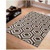 Superior Hand Tufted Geometric Wool Area Rug (5'x8')