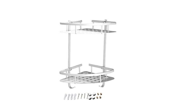 Utility Double Tripod Aluminum Frame Bathroom Kitchens Fan Corner Bracket Shelf