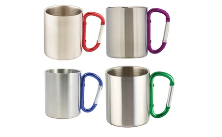 Outdoor Stainless Steel Carabiner Mug Double Walled 8oz a0d61743-3952-44a7-a732-360ecb49dc7c