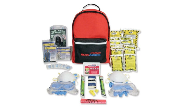 Ready America 2 Person Fire/Blackout Survival Kit-3 Day Pack