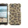 Insten Leopard Skin/camel Diamante Case Cover For Htc First