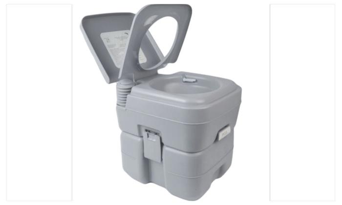 Portable Camping Toilet : 20l portable camping toilet flush porta travel outdoor vehicle boat