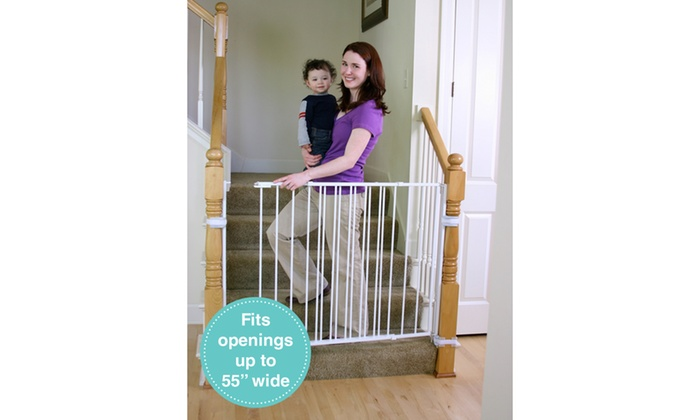 Up To 12 Off On Regalo Extra Tall Stair Gate Groupon Goods