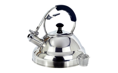 Surgical Whistling Kettle Teapot with Layered Capsule Bottom, 2.75Q fcf2e5d0-84f5-4e0b-8485-f26acf803290