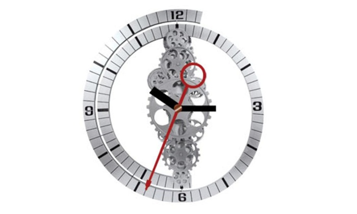 Maples Gcl05 37 Large Moving Gear Wall Clock Groupon
