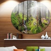Bright Green Carpathian Forest' Landscape Oversized Circle Wall Art
