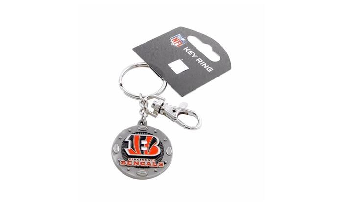 NFL Sports Team Logo Impact Metal Key Ring Keychain