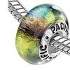 Sterling Silver 'Reggae' Murano-style Glass Bead