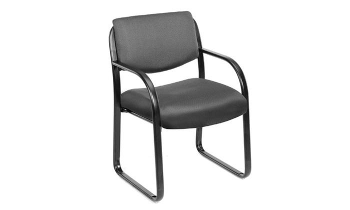 Boss Steel Frame Guest Chair   B9521   Gray