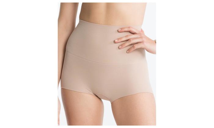 Spanx Power Shorty XL 2330A Flattens Tummy Boyshorts Panty Nude Soft