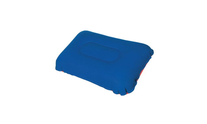 Details about  Camping Pillow Inflatable Fabric Feel Head Cushion