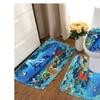 An Ocean Bathroom Carpet Pedestal Rug Lid Toilet Cover Bath Mat Set