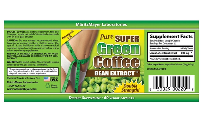 Up To 65 Off On Super Green Coffee Bean Extra Groupon Goods