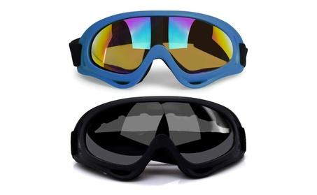 2Pcs Ski Goggles, Snowboard Skate Goggles UV Protective Cycling Goggle 395b5169-db17-49c3-b618-3aae53c5cb33