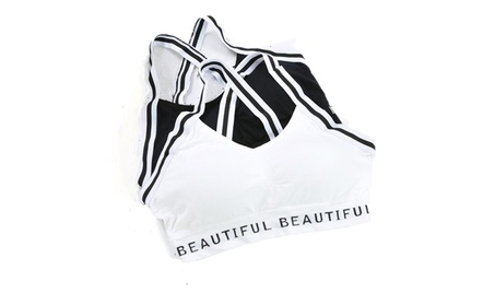 Women's Sports Bras Stripe Strap Yoga Bra Casual Seamless Bra 410dc45a-3adc-41a8-9dd9-dc8462b43f48