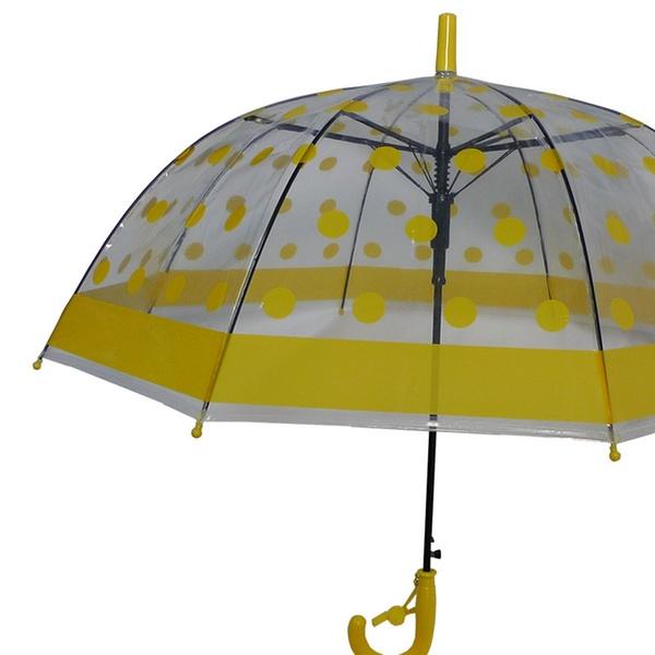 5b44b10f5c Foxfire FOX-622-55 Childrens Clear Yellow Polka Dot Umbrella - Size 1