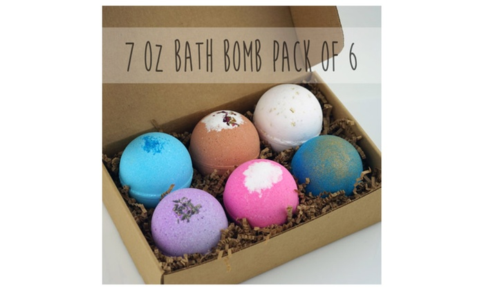 6 Pack Bath Bomb Gift Set Extra Large Handmade In USA Great