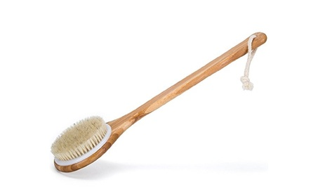 Bath Dry Body Brush-Natural Bristles Back Scrubber With Long Handle f2bd389a-1189-464d-a60e-a225a56ad9cd