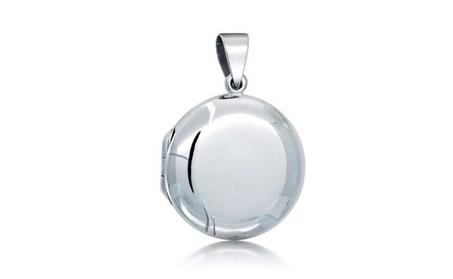 Bling Jewelry Classic Round 925 Silver Locket Pendant Polished Finish c1c0bb01-9674-4d85-ae3b-e3efecf6922b
