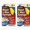 SpongeTech Wash & Wax Sponge, Yellow - Pack of 2
