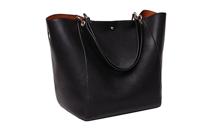 Tibes Fashion Waterproof Shoulder Bag Genuine Leather Handbag
