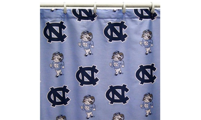 College Covers NCUSC UNC Printed Shower Curtain Cover 70 In X 72