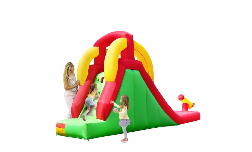Up To 55 Off On Inflatable Moonwalk Water Sli Groupon Goods