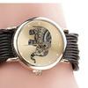 Leather Elephant Bracelet Wristwatch For Women