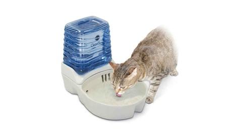 KH CleanFlow Cat Ceramic Fountain Off-White photo