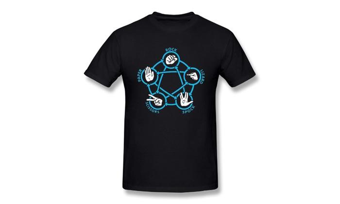 Men's Star Trek Big Bang Theory Rock Paper Scissors T-shirt
