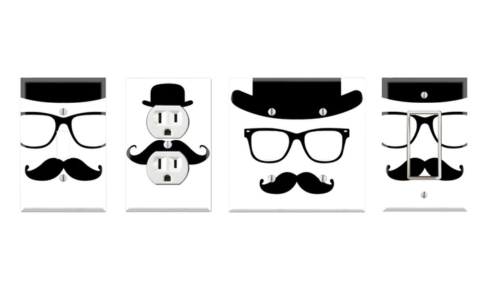 Toggle/Rocker Switch/Outlet Cover Decor Wall Plates - Gentleman