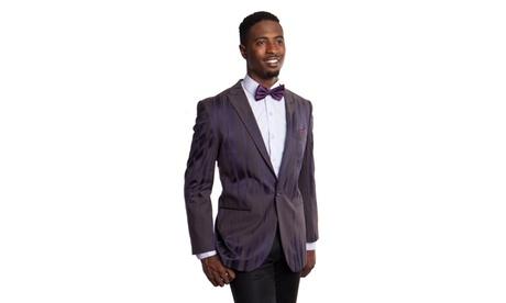 Men's Slim Fit Jacket Peak Lapel Fashion Blazer 17d98c9d-c7c7-4fa8-8443-78079da8c53c