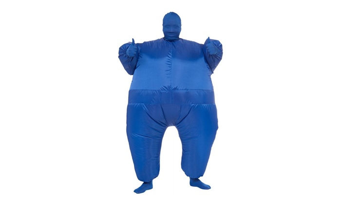 Inflatable Full Body Suit Costume Halloween O/S Unisex Adult Blue Fun