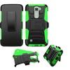 Insten Hard Hybrid Case With Holster For Lg K7 Tribute 5 Black/green