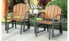 Furniture of America Rogerina Outdoor Rocking Chair Set (2-Piece)