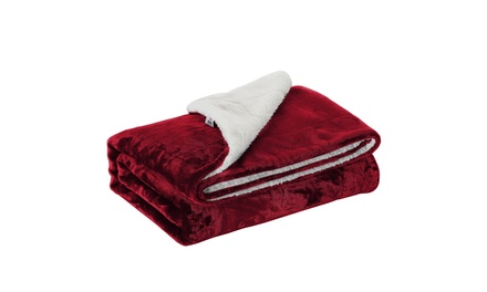 Fall & Winter Warm Fleece Sherpa-Lined Throw Blankets