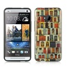 Insten Door Pattern Soft Rubber Protective Case For HTC One M7 - Colorful