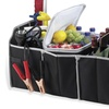 Car Trunk Organizer, Black, 3 Large Sections of Storage