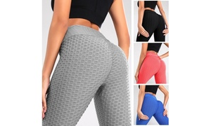 Women Leggings Booty Lifting High Waisted Tummy Control Workout Sport Yoga Pants