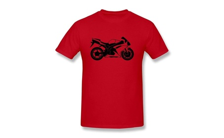 CHUNYAO Motorcycle Tee Shirts For Men Red 85abe9e7-b019-4941-aade-f64066f989c2