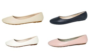 P26 Womens Classic Round Toe Easy On Easy Off Ballerina Ballet Flats