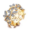 Elegant Flower Butterflies Paved Tiny CZ Stone Ring for Women's