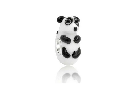 Bling Jewelry 925 Silver Lampwork Glass 3D Panda Bear Animal Bead 80392c90-81a5-4f11-9c39-93b9ec094127
