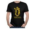 Men's Nirvana Band Golden Member Silhouette Short Sleeves T Shirts