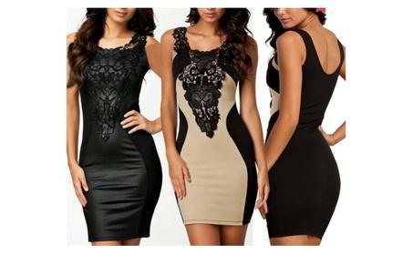 2 Pack New Elegant Women's Sleeveless Lace Neck Dress Skirt 490818eb-3872-4cec-8048-270d5858606b