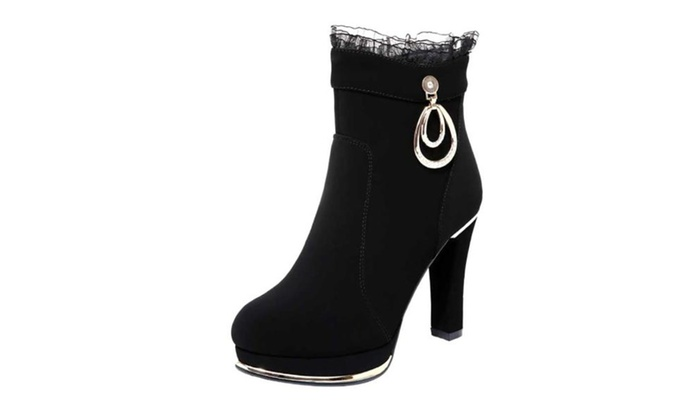 Women's Ladies Solid Casual Fashion Boots