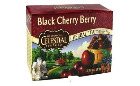Celestial Seasonings Herbal Tea Black Cherry Berry Caffeine Tea Bags
