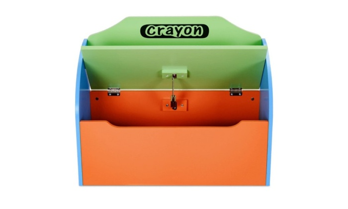 Crayon Wood Toy Storage Box And Bench For Toddler Children ...